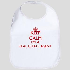 Keep calm I'm a Real Estate Agent Bib