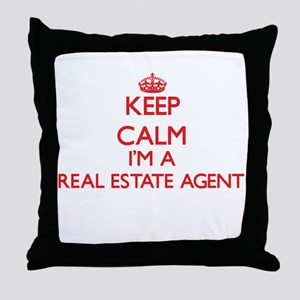 Keep calm I'm a Real Estate Agent Throw Pillow