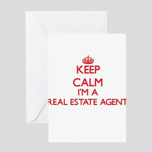 Keep calm I'm a Real Estate Agent Greeting Cards