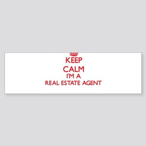 Keep calm I'm a Real Estate Agent Bumper Sticker