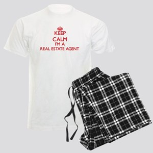 Keep calm I'm a Real Estate A Men's Light Pajamas