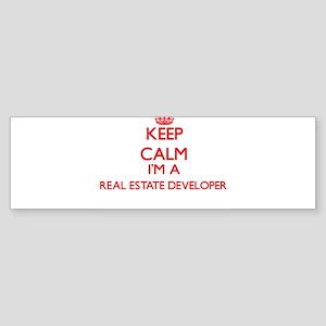 Keep calm I'm a Real Estate Develop Bumper Sticker