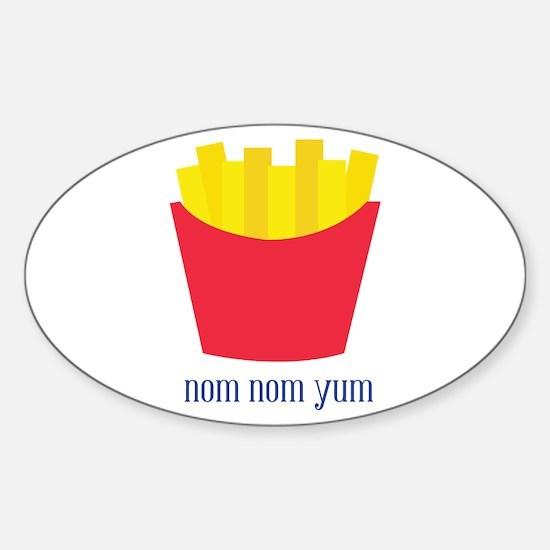 Fries_Nom Nom Yum Decal
