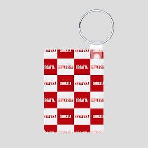 Croatia - Hrvatska Checkered Keychains