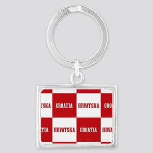 Croatia - Hrvatska Checkered Keychains
