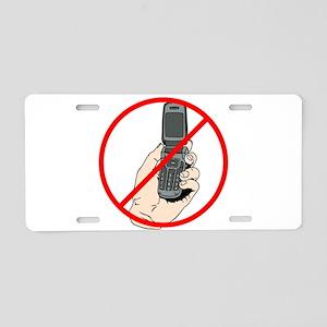 No Phones Aluminum License Plate
