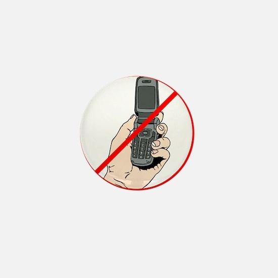 No Phones Mini Button