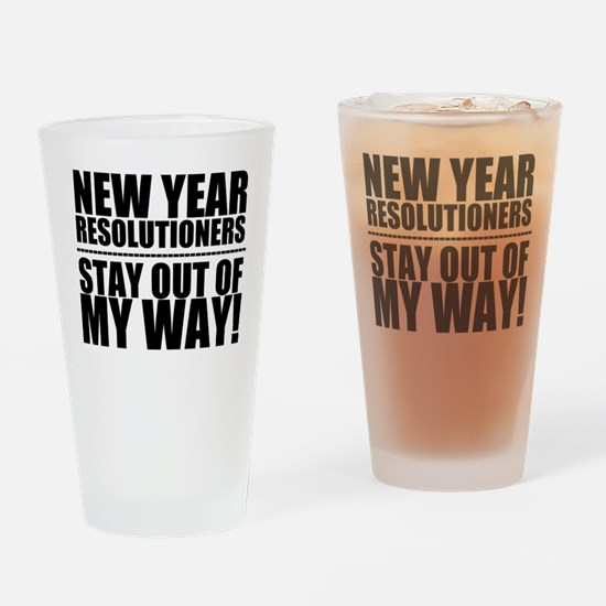 New Years Resolutions Drinking Glass