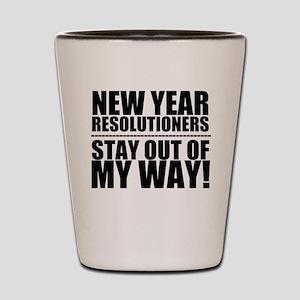 New Years Resolutions Shot Glass