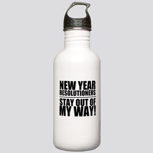 New Years Resolutions Water Bottle