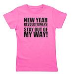 New Years Resolutions Girl's Tee