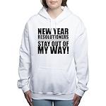 New Years Resolutions Women's Hooded Sweatshirt