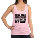 New Years Resolutions Racerback Tank Top
