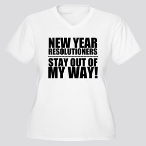 New Years Resolutions Plus Size T-Shirt
