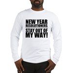 New Years Resolutions Long Sleeve T-Shirt