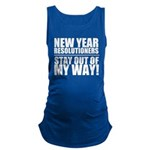 New Years Resolutions Maternity Tank Top