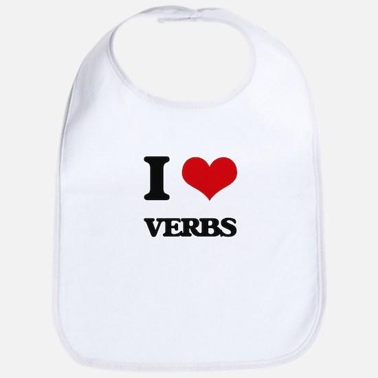 I love Verbs Bib