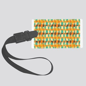 Shredded abstract background Luggage Tag