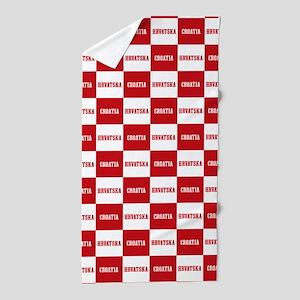 Croatia - Hrvatska Checkered Beach Towel