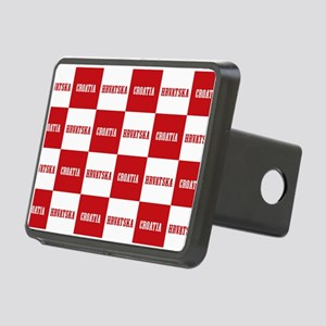 Croatia - Hrvatska Checker Rectangular Hitch Cover