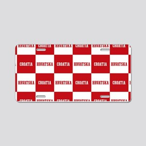 Croatia - Hrvatska Checkere Aluminum License Plate