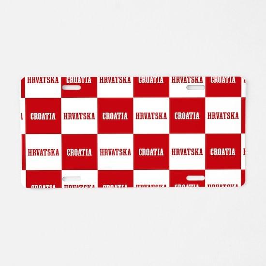 Croatia - Hrvatska Checkere Aluminum License Plate