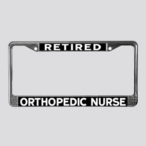 Orthopedic Nurse License Plate Frame