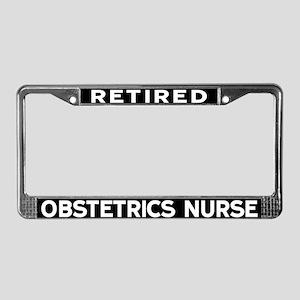 Obstetrics Nurse License Plate Frame