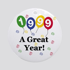 1999 A Great Year Ornament (Round)