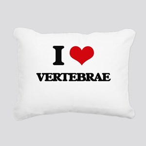 I love Vertebrae Rectangular Canvas Pillow