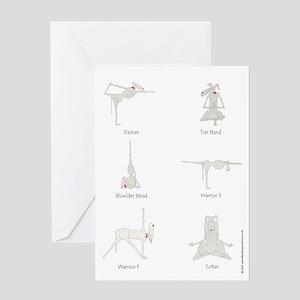 Funny, Dog Yoga / Doga 6 Pose Greeting Card