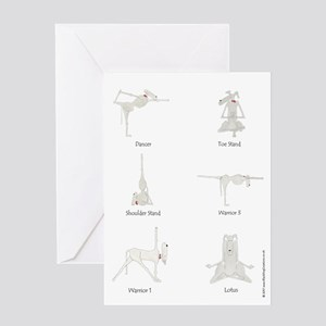 Funny Dog Yoga Doga 6 Pose Greeting Card