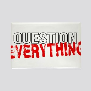 Question Everything Rectangle Magnet