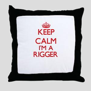 Keep calm I'm a Rigger Throw Pillow