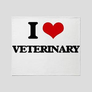 I love Veterinary Throw Blanket