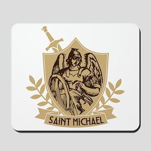 Saint Michael Shield Mousepad