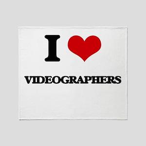 I love Videographers Throw Blanket