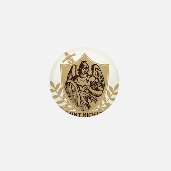 Saint Michael Shield Mini Button