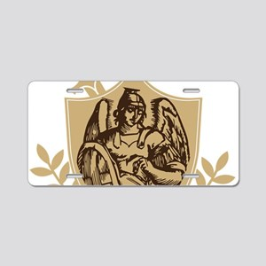 Saint Michael Shield Aluminum License Plate