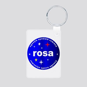 Romanian Space Agency Aluminum Photo Keychain