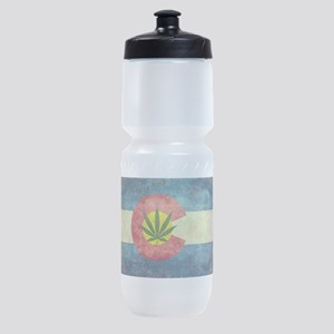 Colorado Weed Flag Sports Bottle