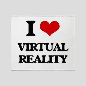 I love Virtual Reality Throw Blanket