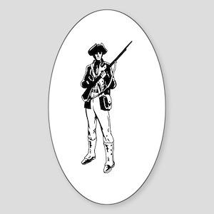 Minuteman Rectangle Sticker