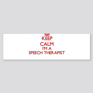 Keep calm I'm a Speech Therapist Bumper Sticker