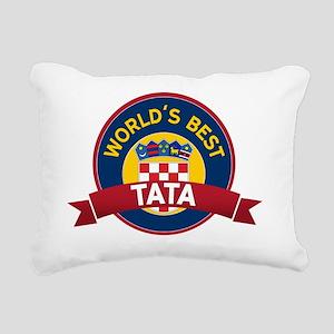 World's Best Tata Rectangular Canvas Pillow