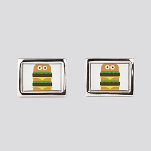 Hamburger_Base Rectangular Cufflinks