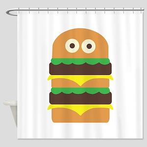 Hamburger_Base Shower Curtain