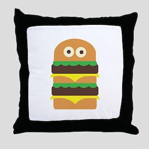 Hamburger_Base Throw Pillow