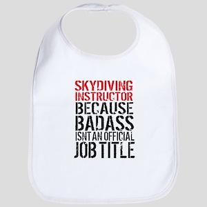 Skydiving Instructor Badass Cute Baby Bib