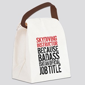 Skydiving Instructor Badass Cute Canvas Lunch Bag